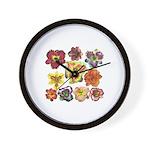 Ten Daylilies Wall Clock