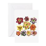 Ten Daylilies Greeting Cards (Pk of 10)