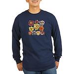 Ten Daylilies Long Sleeve Dark T-Shirt