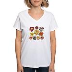 Ten Daylilies Women's V-Neck T-Shirt