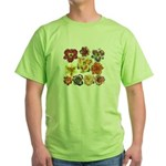 Ten Daylilies Green T-Shirt