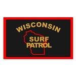 Wisconsin Surf Patrol R Rectangle Sticker
