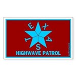 Texas Highwave Patrol Rectangle Sticker