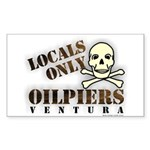 Locals Only Oilpiers Rectangle Sticker