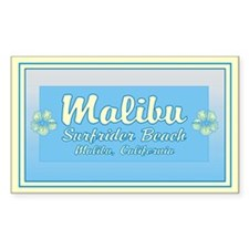 Malibu Surfrider Rectangle Decal