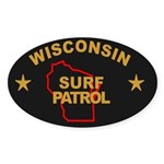 Wisconsin Surf Patrol Oval Sticker