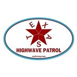 Texas Highwave Patrol Oval Sticker