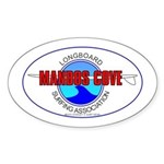Mandos Cove Surfing Assn. Oval Sticker