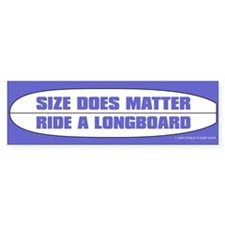 Size Does Matter Bumper Bumper Sticker