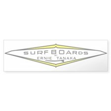 Tanaka Surfboards Bumper Bumper Sticker