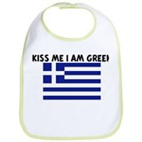 KISS ME I AM GREEK Bib