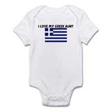 I LOVE MY GREEK AUNT Infant Bodysuit