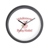 Welcome Baby Katie Wall Clock