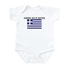 GREEKS DO IT BETTER Infant Bodysuit