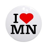 I Love Minnesota - Keepsake (Round)