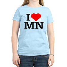 I Love Minnesota - Women's Pink T-Shirt
