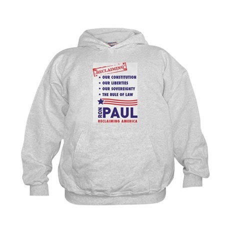 Ron Paul Reclaiming America Kids Hoodie