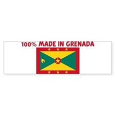 100 PERCENT MADE IN GRENADA Bumper Bumper Sticker