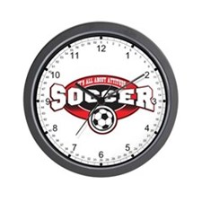 All About Attitude Soccer Wall Clock