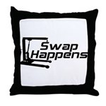Swap Happens Throw Pillow