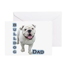 Bulldog Dad4 Greeting Cards (Pk of 10)