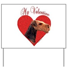 Airedale Valentine Yard Sign