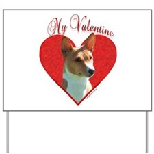 Basenji Valentine Yard Sign
