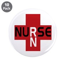 "Nurse - RN 3.5"" Button (10 pack)"