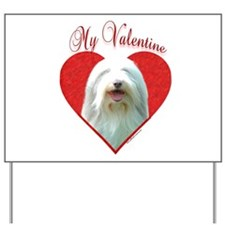 Bearded Valentine Yard Sign