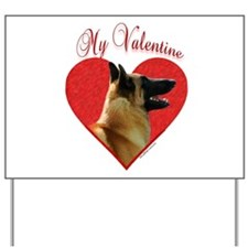 Malinois Valentine Yard Sign