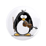 "Violin Penguin 3.5"" Button"