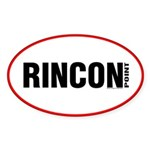Rincon Point Oval Sticker