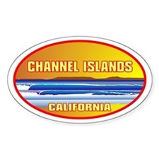 Channel Islands CA Oval Decal