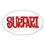 Surfari Oval Sticker