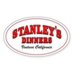 Stanley's Diner Oval Sticker