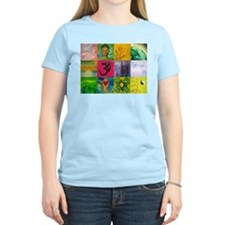 Smiling Buddha Patchwork T-Shirt