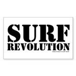 Surf Revolution Rectangle Sticker