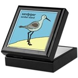 sandpiper | sanibel island Keepsake Box