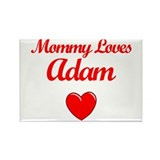 Mommy Loves Adam Rectangle Magnet (10 pack)