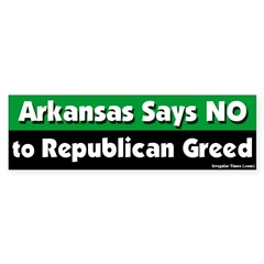 Arkansas Republican Bumper Sticker