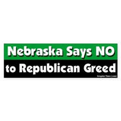 Nebraska Republican Bumper Sticker