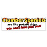 Potato Chips Clumber Spaniel Bumper Bumper Sticker