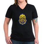 DEA Special Agent Women's V-Neck Dark T-Shirt