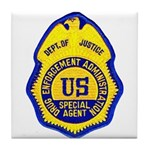 DEA Special Agent Tile Coaster