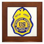 DEA Special Agent Framed Tile