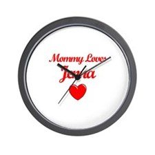 Mommy Loves Jenna Wall Clock