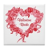 Valentine Bride Tile Coaster