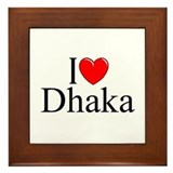 """I Love Dhaka"" Framed Tile"