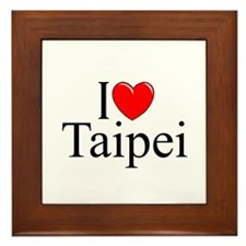 """I Love Taipei"" Framed Tile"