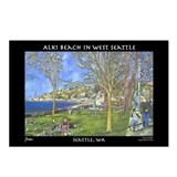 Alki Beach, West Seattle Postcards (Package of 8)